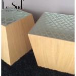 Zagora:   Tavolino da caffè contenitore realizzato in legno acciaio e vetro.